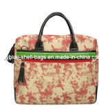 Lady Canvas Laptop Bags/Lady Messenger Bags with Printing