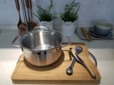 18cm Fashionable Stainless Steel Casserole Cookware for Cooking, Kitchen Utensils