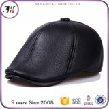 Hot Cowhide Leather Mens Winter Wool Caps for Winter Wholesale