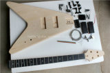 Hanhai/Flying V Electric Bass Guitar Kit with 4 Strings