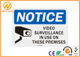 Aluminum Video Surveillance Warning Sign for Indoor or Outdoor