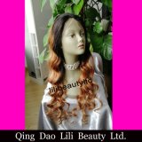 Ombre Color Body Wave Wholesale Cheap Brazilian Human Hair Full Lace Wig with Baby Hair