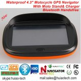 "New Factory Waterproof 4.3"" Motorcycle Bike Car GPS Navigator Built-in 66 Channel Handheld GPS, Wince 6.0, 800MHz, Bluetooth, Sat Nav"