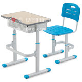 Knockdown Height Adjustable Durable Double Seats School Desk for Tender