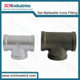UL FM Galvanized & Black Malleable Iron Pipe Fitting Equal Tee