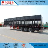 Huayu 3axles Stake/Fence Truck Semi Trailer Transport Horese/Milk Cow