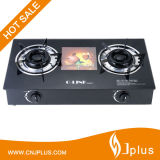 Heavy Duty 2 Burner Tempered Glass Top Gas Cooker for Africa Market Jp-Gcg250