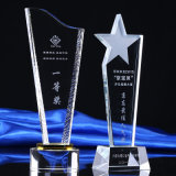 New Model Crystal Award Trophy with Custom Logo
