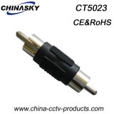 CCTV Male RCA to Male RCA Plug, Nickel Plated (CT5023)