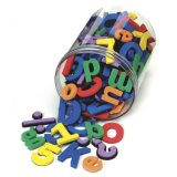 ABC Magnets 109 Magnetic Alphabet Letters Toy with Take Along Bucket