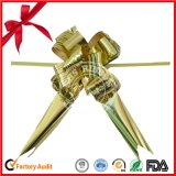 Metallic Golden Butterfly Pull Bow for Wedding Decoration
