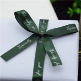 Custom Printed Red Ribbon Bowknot with Logo for Gift Box Decoration/Holiday Decoration/Christmas Decoration
