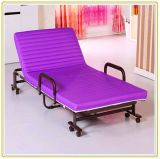 Portable Folded Bed with Mattress 190*65cm Violet Color