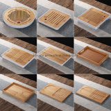 Manufacture Tea Set Accessory Teapot Saucer Serving Tray Bamboo Wooden Tea Tray