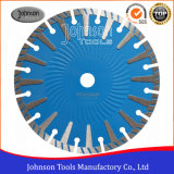 Diamond Saw Blade 230mm T Shape Turbo Wave Segmented Saw Blade