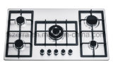 Five Burner Stainless Steel of Built in Gas Hob with Cast Iron Pan Support