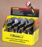 """Dual Function Pipe Spanners 6"""" Stubby Adjustable Wrench with Short Handle"""