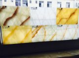2017 New Decorative Translucent Crack Onyx Stone Panel