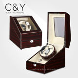 2+3 Black High Gloss Wooden Automatic Watch Winder