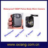 Waterproof Police Body Worn Video Camera with 120 Degree Wide Angle