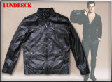 Fashion Men's PU Jacket with Competitive Price