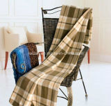 Checked Print Coral Fleece / Micro Fibre Blanket / Throw