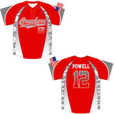Custom 2 Button Sublimated Baseball Top with Your Logo