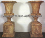 Garden Stone Marble Flower Pot for Garden Decoration (QFP160)