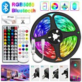 5050 LED Strip Waterproof Ribbon Light RGB Tape Backlight Music Sync Bluetooth Remote 12V Decoration Lamps for Room IP65/IP20