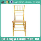 Rental PC Transparent Golden Banquet Tiffany Chair for Event