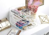 Clear Perspex Makeup Display Storage Table Organiser