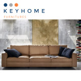 Solid Wooden Frame Multi-Combination Leather Sofa