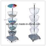Candy Floor Bowl Display Stand Bowl Rack
