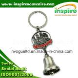 Zinc Alloy Souvenir Keychain with Dinner Bell
