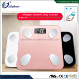 Factory  Directly  Wholesales Bluetooth Body Fat Scale  180kg Max,Print Silk Platform White,Pink,Black for Option or Customized,  R30 Glass Platform Ce,RoHS,FCC