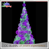 Colorful Commercial 3D LED Light Christmas Decoration Ball Tree