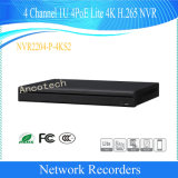 Dahua 4channel 1u 4poe 4K H. 265 Network Video Recorder (NVR2204-P-4KS2)