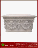 White Marble Flower Pot Planter for Garden Decoration