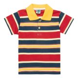 Fashion Short Sleeve 100% Cotton Striped Kids Polo Shirt (PS063W)