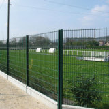 PVC Coated Welding Metal Double Wire Mesh Security Fence Panels