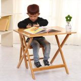 Bamboo Folding and Height Adjustable Study Table
