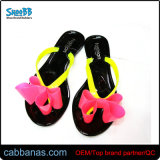 Flat Jelly Cute Bowknot Outdoor Shower Beach Thong Flip Flops Slippers for Womens Ladies Girls