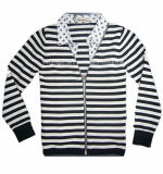 Knitted Round Neck Long Sleeve Baby Cardigan with Zipper (C-17)