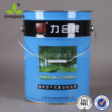 Custom Tinplate Material Paint Tin Bucket with Metal Handle