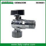 Hot sale polished toilet stop Brass 90 Degree water angle valve