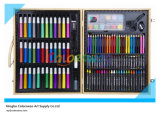 130PCS Drawing Art Set in Wooden Box for Kids and Students