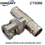 CCTV BNC Male to BNC Double Female Splitter Connector (CT5066)