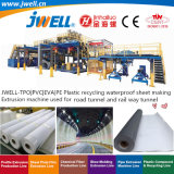 Jwell-Tpo PVC EVA PE Plastic Recycling Waterproof Sheet Making Extrusion Machine Used for Road Tunnel and Rail Way Tunnel with High Capacity and Good Price