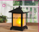 Black Decorative Lantern with Flame LED Candle Light for Home and Outdoor Decoration