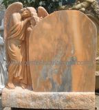 Custom Marble Granite Graveyard Statue Sleeping Angel Tombstone for Cemetery Sculpture (TM008)
